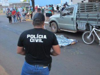 Condutor do caminhão não parou e foi seguido por testemunhas - Foto: Notícias da Hora MS