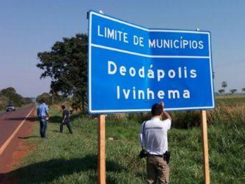 Vítima se chocou contra placa de sinalização - Foto: Osvaldo Duarte / Dourados News