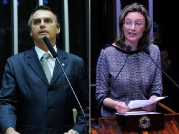 Montagem mostra os deputados Jair Bolsonaro (PSC-RJ) (esq.) e Maria do Rosário (PT-RS) (dir.) - Foto: Gabriela Korossy e Luis Macedo / Câmara dos D