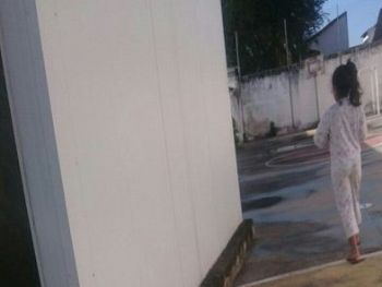 Foto tirada em prédio de antiga escola, na Rua 13 de Junho, em Corumbá - Foto: Reprodução
