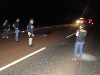 Acidente aconteceu ontem à noite, na BR-163 - Foto: Rio Brilhante em Tempo Real