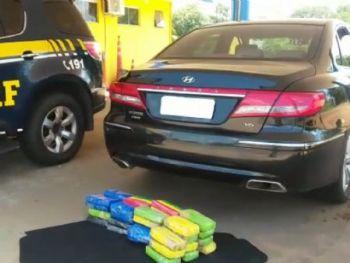 Empresário pegou o carro e a droga em posto de combustíveis, na Capital - Foto: Divulgação PRF