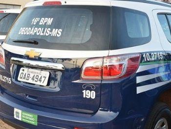 Viatura da Polícia Militar de Deodápolis - Foto: Divulgação/Ivinotícias