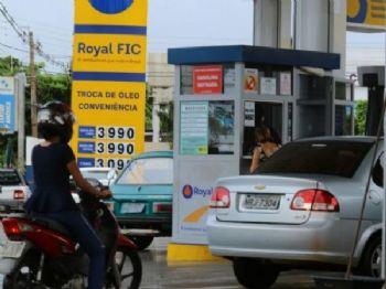 Posto de combustível em Campo Grande (Foto: André Bittar)