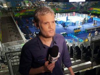 O jornalista, entre outras coberturas pelo Canal Campeão, esteve presente nos Jogos Olímpicos do Rio de Janeiro, no ano passado - Foto: Reprodução