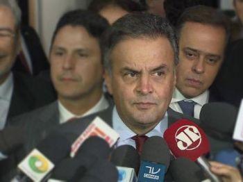 O senador afastado Aécio Neves (PSDB-MG) durante entrevista - Foto: Reprodução/Fantástico