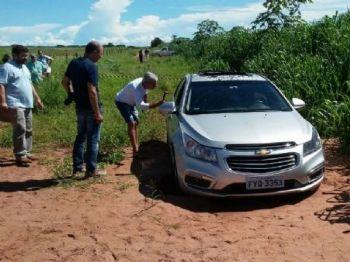 Suspeito estava dentro de veículo em estrada de propriedade rural - Foto: André Barbosa / JP News