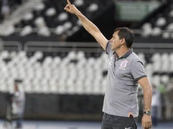 Carille na derrota do Corinthians para o Botafogo no Engenhão (Foto: Daniel Augusto Jr/Corinthians)