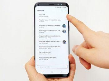 Bixby reconhece comandos de voz do usuários e pode anotar recados... (Foto: Divulgação/Samsung)