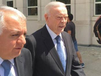 Ex-presidente da CBF José Maria Marin, do lado de fora do tribunal federal em Nova York REUTERS/Nate Raymond